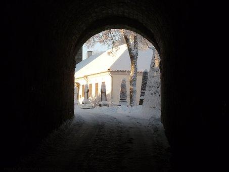 Gate, Castle, Kuressaare, Saaremaa Island, Estonia