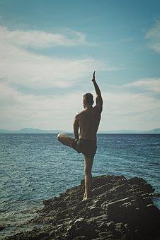 Balance, Beach, Horizon, Male, Man, Ocean, Person