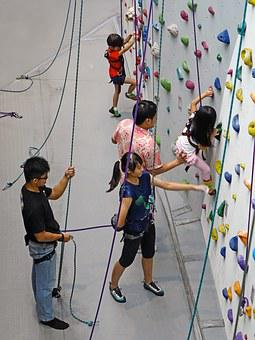 Climbing, Rope, Rappelling, Wall, Rock, Extreme Sport
