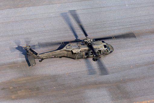 Aircraft, Helicopter, Landing, Military, Propeller