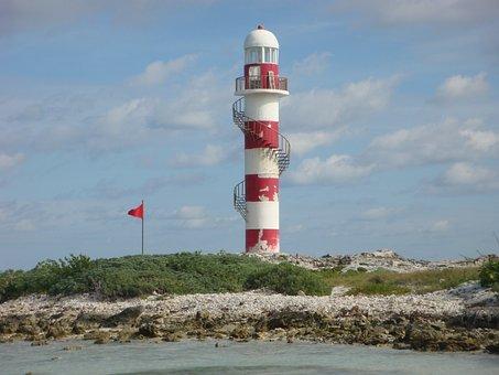 Lighthouse, Cancun, Caribbean, Building