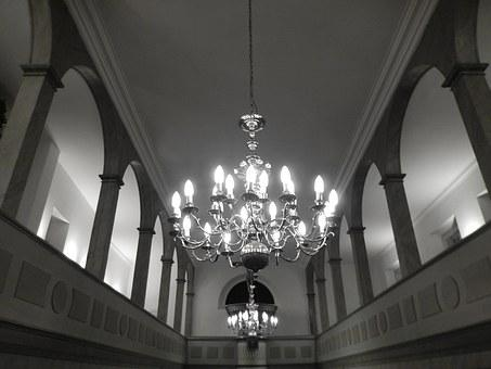 Chandelier, Church, Candlestick, Atmospheric