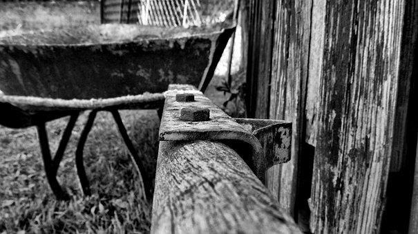 Barrow, Old, Work, Tool, Rusty, Dirty, Equipment