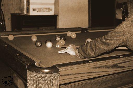 Billiards, Pool, Playing, Bar, Hangout, Lounge