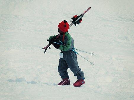 Skiing, Child, Kid, Snow, Winter, Ski, Mountain, Cold