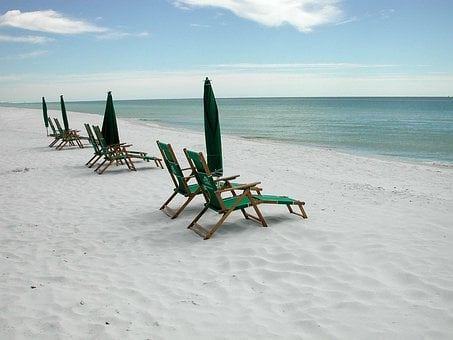 Beach, Chairs, Leisure, Outdoors, Vacation, Tourism