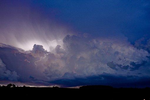 Lightning, Thunder, Storm, Meteorology, Flash, Horizon