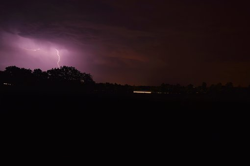 Storm, Night, Nocturne, Lon, Long Exposure, Flash