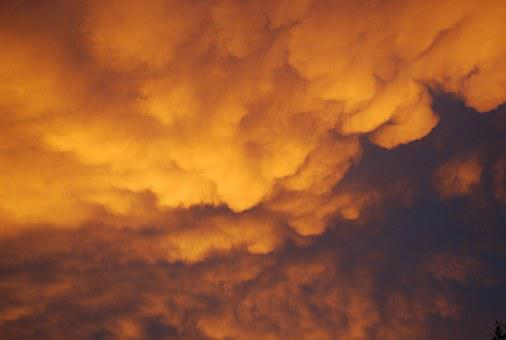 Storm, Clouds, Morning, Yellow, Angry, Storm Clouds