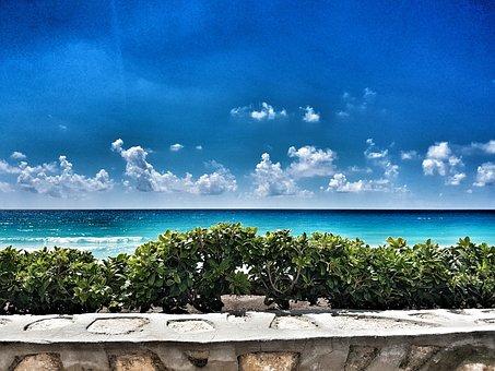 Sea, Beach, Nature, Cancun