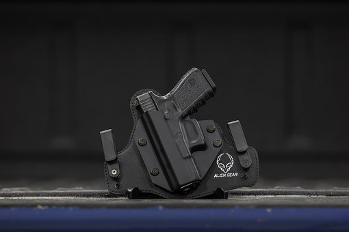 Gun Holster, Gun, Holster, Pistol, Handgun, Weapon