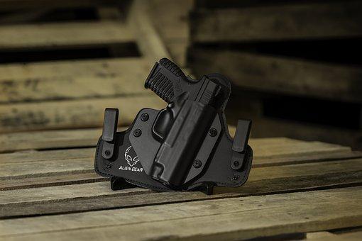 Holster, Gun, Handgun, Pistol, Weapon, Iwb, Owb
