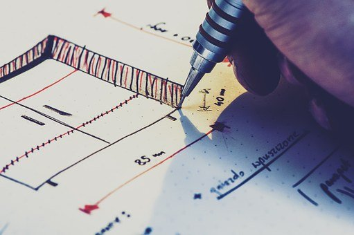 Drawing, Plan, Design, Sketch, Project, Construction