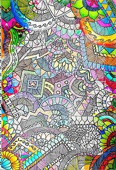 Sketch, Color, White, Nero, Faded, Incomplete