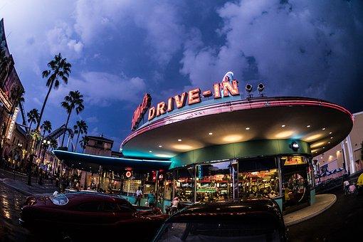 Universal Studios Japan, Amusement Park, Night, Thunder