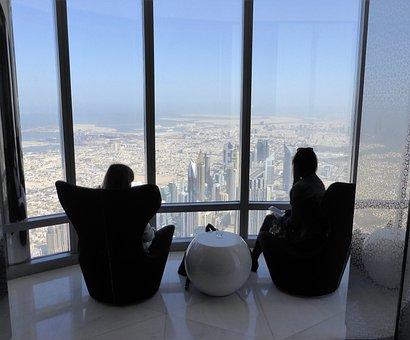 Relax, Enjoy, View, Lounge, Burj Khalifa, Dubai