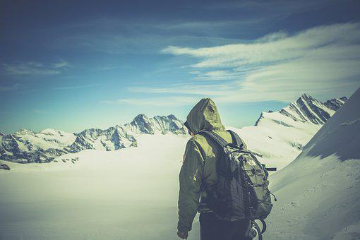 Alone, Backpack, Climbing, Cold, Hiker, Hiking, Ice