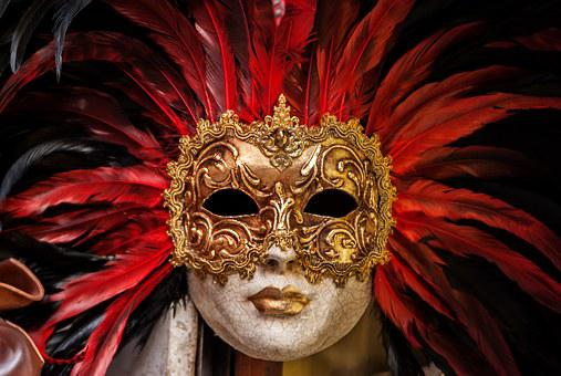 Eyes, Golden, Mask, Cracks, Feathers, Eyeshadow