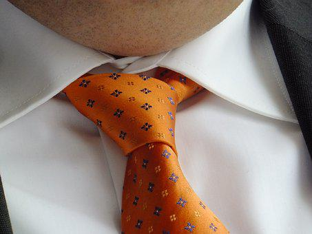 Tie, Orange, Festive, Man, Neck