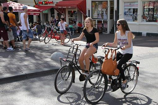 Amsterdam, Bikes, People, Netherlands, Europe, City