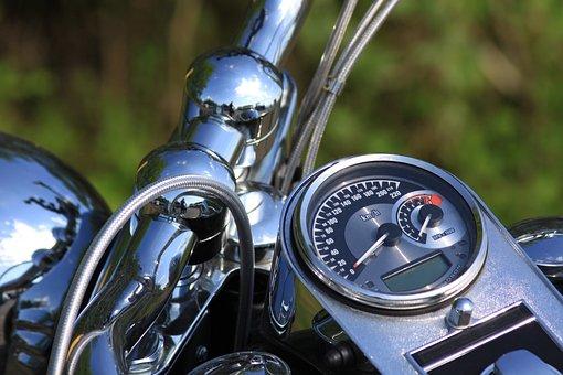 Metal, Motorbike, Power, Reflection, Speed, Speedometer