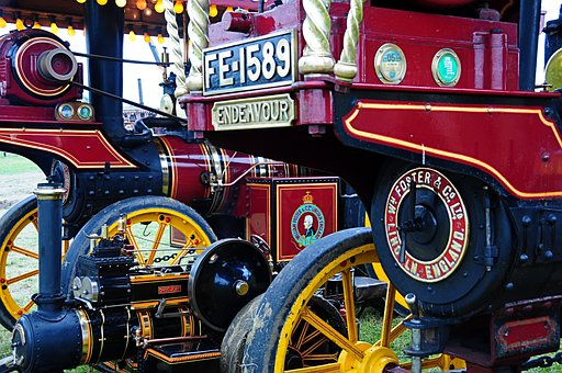 Steam, Traction Engine, Fair, Show, Tractor, Antique