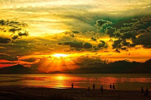 Sunset, Da Nang, Vietnam, Clouds, Outdoors, Tranquil