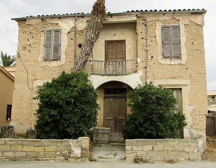 Cyprus, Athienou, Village, Traditional, House, Old