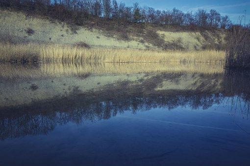 Renaturation, Lake, Pit, Sound, Removal, Biotope