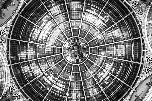 Texture, Black And White, Roof, Milan, Italy, Ceiling