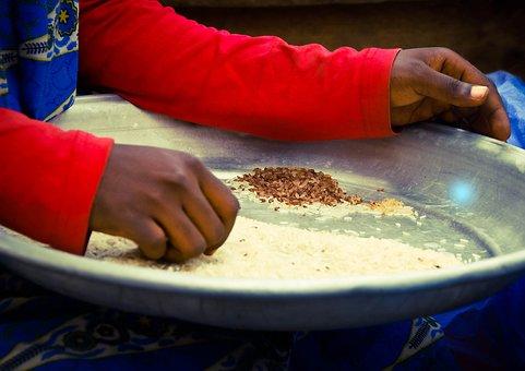 Ghana, Market Woman, Rice, Trader
