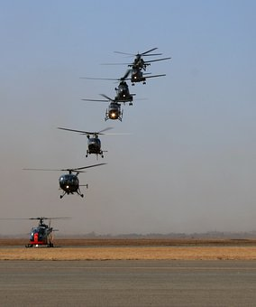 Helicopters, Helicopter Competition, Aviation, Blue Sky