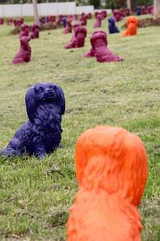 Dog Park, Art, Decoration, Dogs, Clay Figures