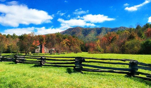 Homestead, Ranch, Fence, Split Rail, House, Land