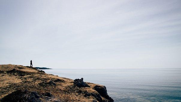 Landscape, Horizon, Nature, Sky, Sea, Fog, Canada, Fade