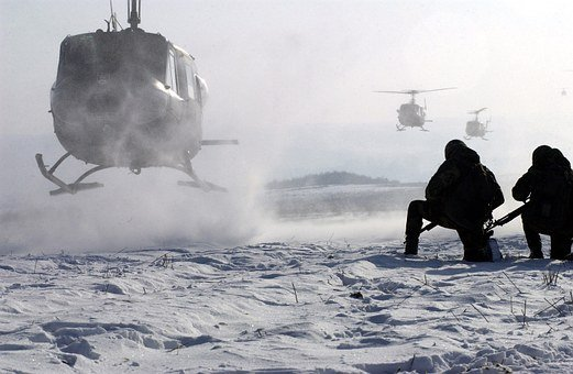 Helicopter, Soldiers, Military, Usa, Weapons, War