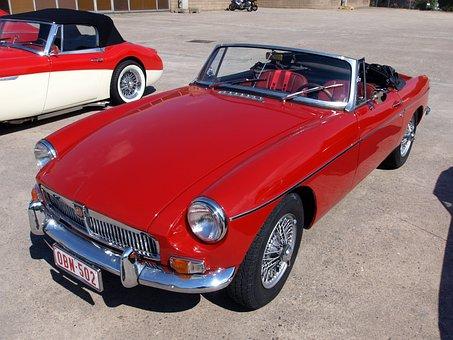 Mg B Roadster, Classic Car, Oldtimer, Technology