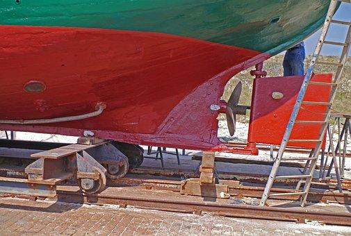 Cutter, Hull, Rear, Propeller, Helm, Dock, Dry Dock
