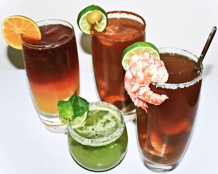 Drinks, Shrimp, Beer, Clamato, Mojito, Sunrise, Menu