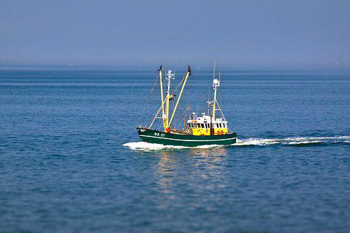 Fishing Vessel, Boot, Ship, Cutter, North Sea, Crabs