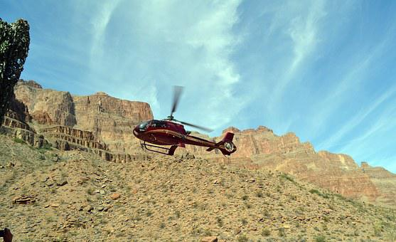 Grand Canyon, Canyon, Helicopter, Chopper, Rock, View