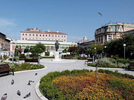 City, Buildings, Architecture, Garden, Urban, Cityscape