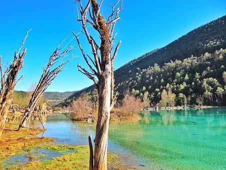 The Jade Dragon Snow Mountain, River, Sunshine