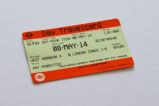 Travelcard, Ticket, London, Underground, Tube, British