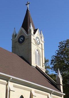 Church, St Mary Assumption, Dwight, Nebraska, Steeple
