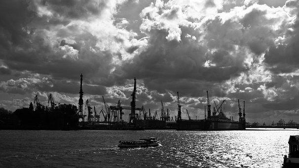 Hamburg, Hamburg Port, Port Of Hamburg, Landungsbrücken