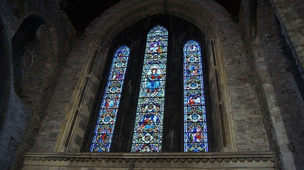 Stained Glass, St Mary's Cathedral, Church, Cathedral