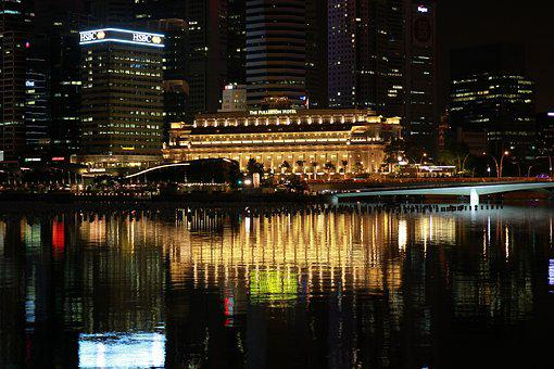 Singapore, Night, Marina, Bay, Casino, Tourism