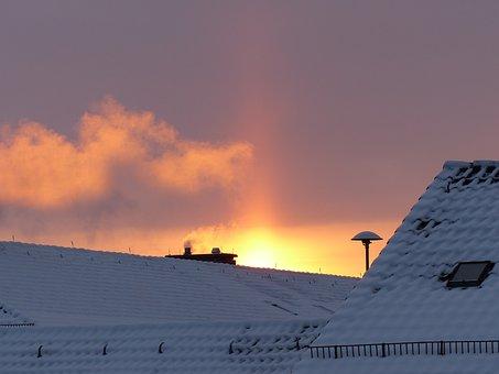 Sunbeam, Up, Morgenstimmung, Sky, Sunrise