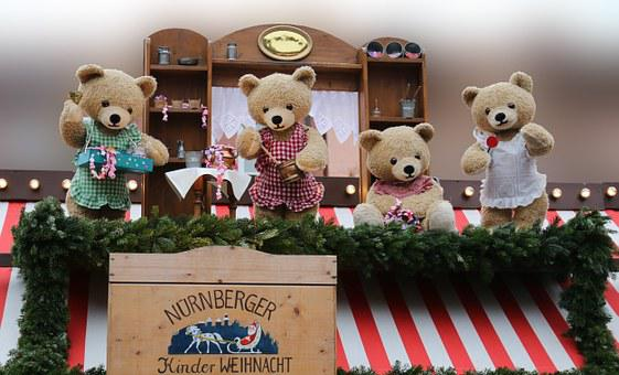Bear, Dolls, Puppet Theatre, Fairytale Characters